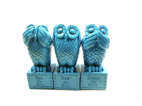 Hear No Evil Owls Speak No Evil See No Evil Owl