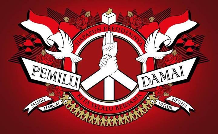 """Pemilu Damai"" -- Ingat, Pemilu ini dilaksanakan bukan untuk memecah belah bangsa, tapi untuk membawa bangsa kita menjadi lebih baik. Jadi siapapun pilihannya tetap ingat kalau kita berdiri di tanah yang sama, Tanah Air Indonesia. -- #pilpres2014"