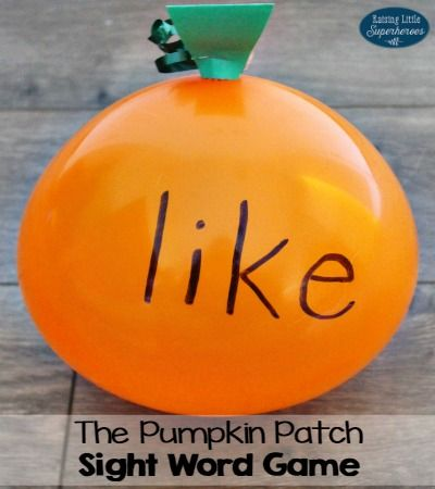The Pumpkin Patch Sight Word Game for Kids