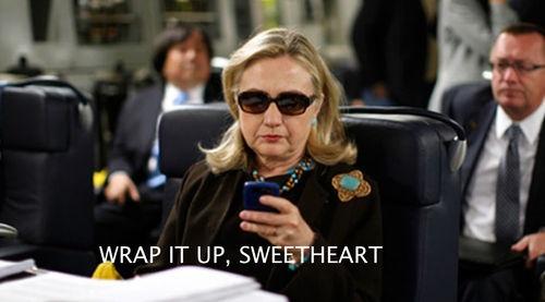 Hillary Clinton texts Bill Clinton DNC.  (I was thinking the same thing!)