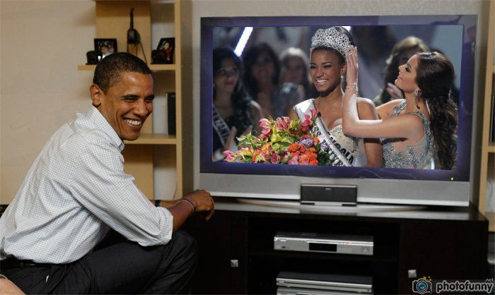 Leila Lopes Miss Universe 2011 watch live Obama