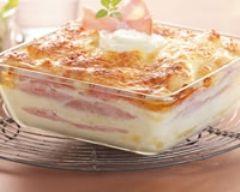 Lasagnes légères au chèvre et au bacon (facile, rapide) - Une recette CuisineAZ