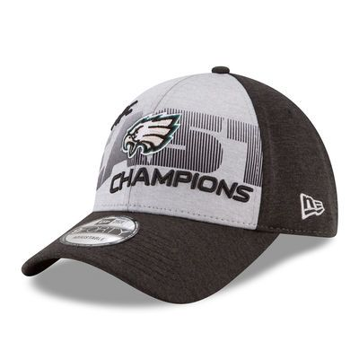 Men's Philadelphia Eagles New Era Gray 2017 NFC East Division Champions 9FORTY Adjustable Hat