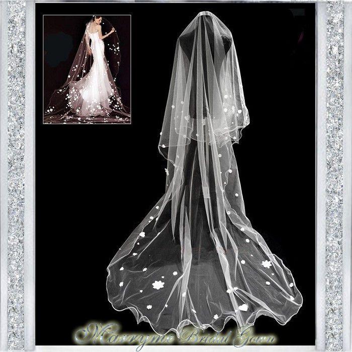 bride veil  3m  cathedral veil