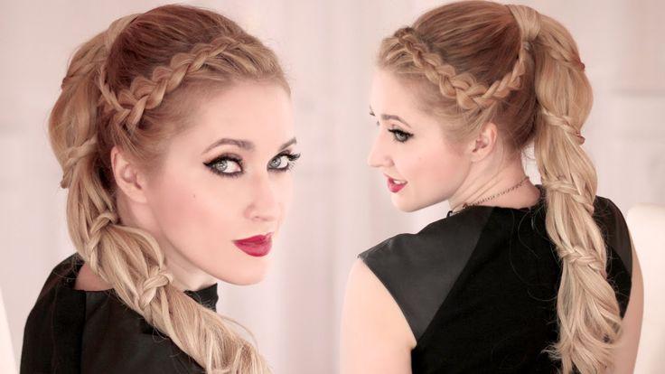 Dans ce tuto coiffure je vous montre comment réaliser une tresse spirale sur une queue de cheval haute, moderne et romantique. Cette coiffure convient aux ch...