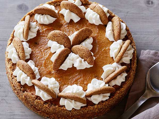 Ginger Snap Pumpkin Pie with Ginger Cream recipe from Food Network Kitchen via Food Network