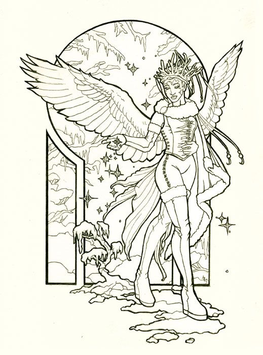 Support The Artist By Purchasing High Res Line Art Via Premium Content System Click Purchase To Buy Angel Of Winter