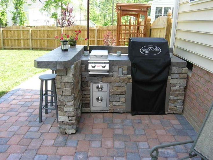 Lowe S Home Improvement On Instagram Get The Look Of An Expensive Outdoor Kitchen Without The Cost Diy Outdoor Kitchen Outdoor Kitchen Decor Outdoor Kitchen