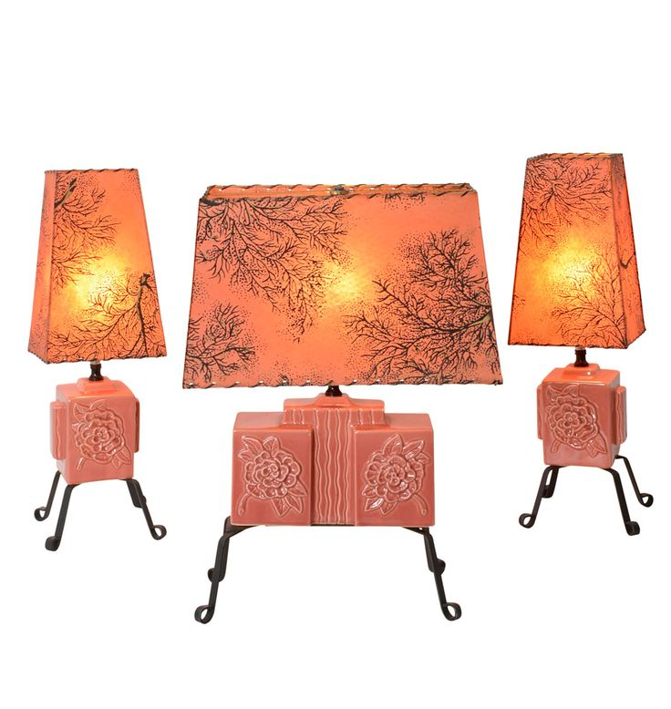 Trio of Sweet and Modern Rose Colored Table Lamps C1955   Rejuvenation. 370 best Decor   Lighting images on Pinterest   Victorian lamps