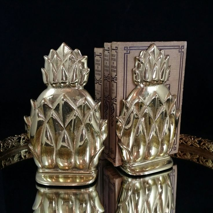 Brass Pineapple Bookends Newport Pineapple Bookends Hospitality Gifts by…