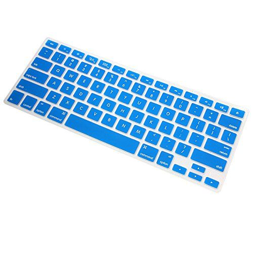 awesome MaximalPower Ultra Thin TPU Soft Cover Skin Keyboard for 13-17 inch MacBook Pro/13 inch MacBook Air - Blue