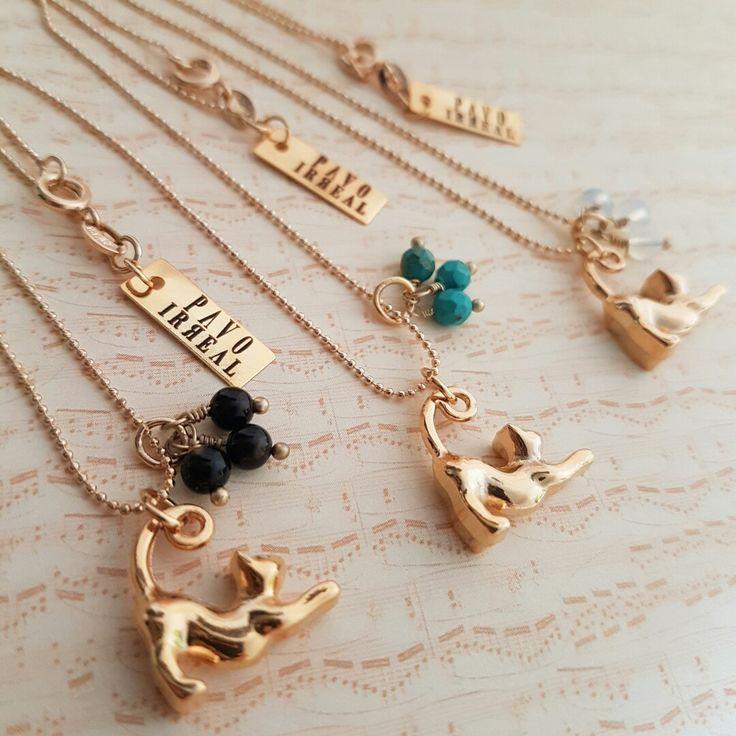 Ref: CA2126  Cadena play Cat  @pavoirreal #cat #naturalstine #kitty #petlover #golden #necklace #handmade #yocomprocolombiano💯✔️