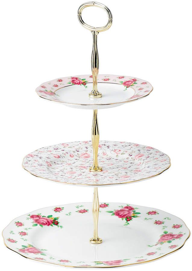 Old Country Roses White Vintage 3 Tier Cake Plate Plate Cake Tiered Vintage Cake Stands Royal Albert Tiered Cakes
