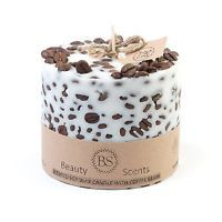 Beauty Scents Handmade Scented Soy Candle with Coffee Beans, Coffee, D 9 H 8.5