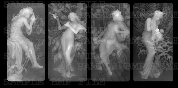 Четыре девушки 3d модель для чпу в BMP формат файла Изображения STL_3463_bmp