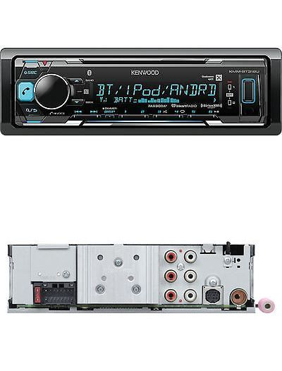 Car Audio In-Dash Units: New Kenwood Car In Dash Bluetooth Audio Mp3 Usb Ipod Iphone Receiver Kmm-Bt318u BUY IT NOW ONLY: $97.02