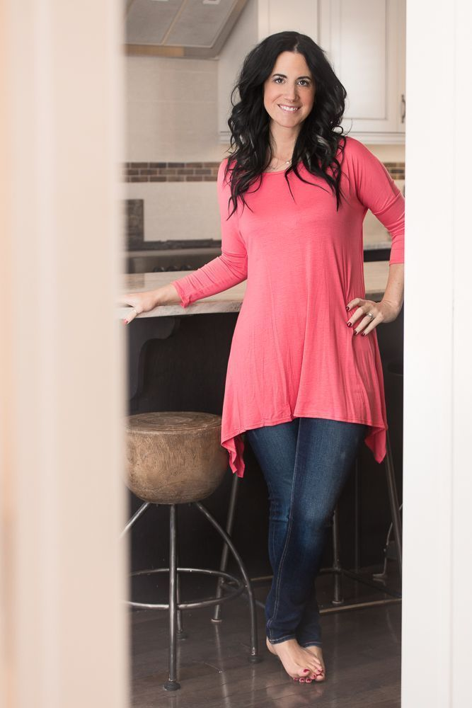 Image of 3/4 Sleeved Basic Top - Coral