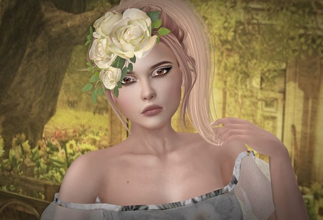 White Queen / Worlds End Garden / Envy Her Couture #SL #SecondLife #PourSLFemme #MISSSLFeed