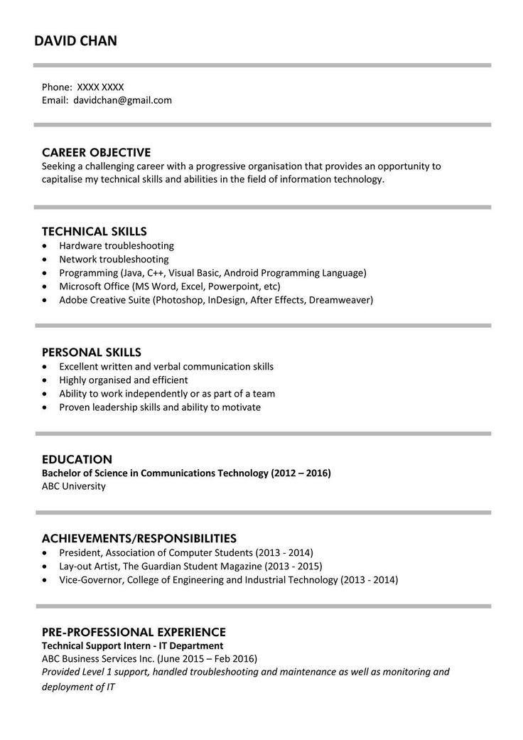 resume sample for fresh graduate innovative sample resume