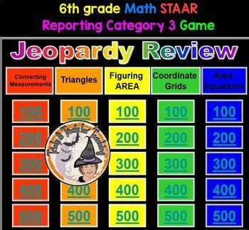 6th grade Math STAAR Test Reporting Category 3 JEOPARDY ...