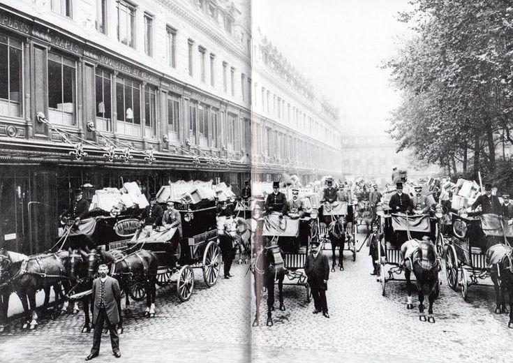 Départ des livraisons du Bon Marché en 1890