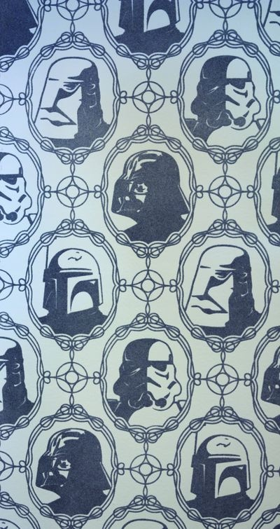 Star Wars Imperial Forces Wallpaper Double Roll.  Our bedroom might be up for redecoration if my husband sees this