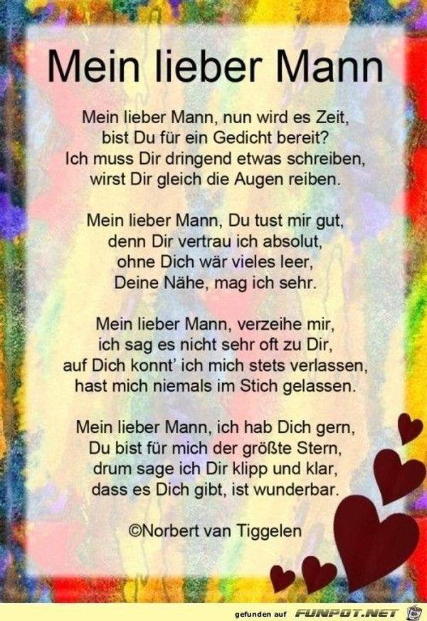 Gedicht Für Meinen Mann