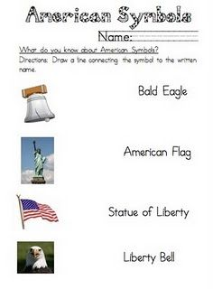 Printables American Symbols Worksheet 1000 images about kindergarten social studies on pinterest all symbols for good practice worksheets reviewing basic perfect students with autism and other speci