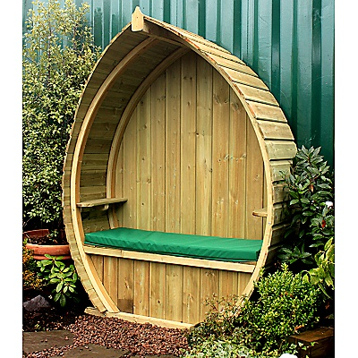 outdoor boat arbour?! would love thisGardens Ideas, Gardens Seats, Secret Gardens, Backyards Decor, Gardens Arbour, Outdoor Boats, Dreams Gardens, Gardens Boats Seats, Boats Arbour