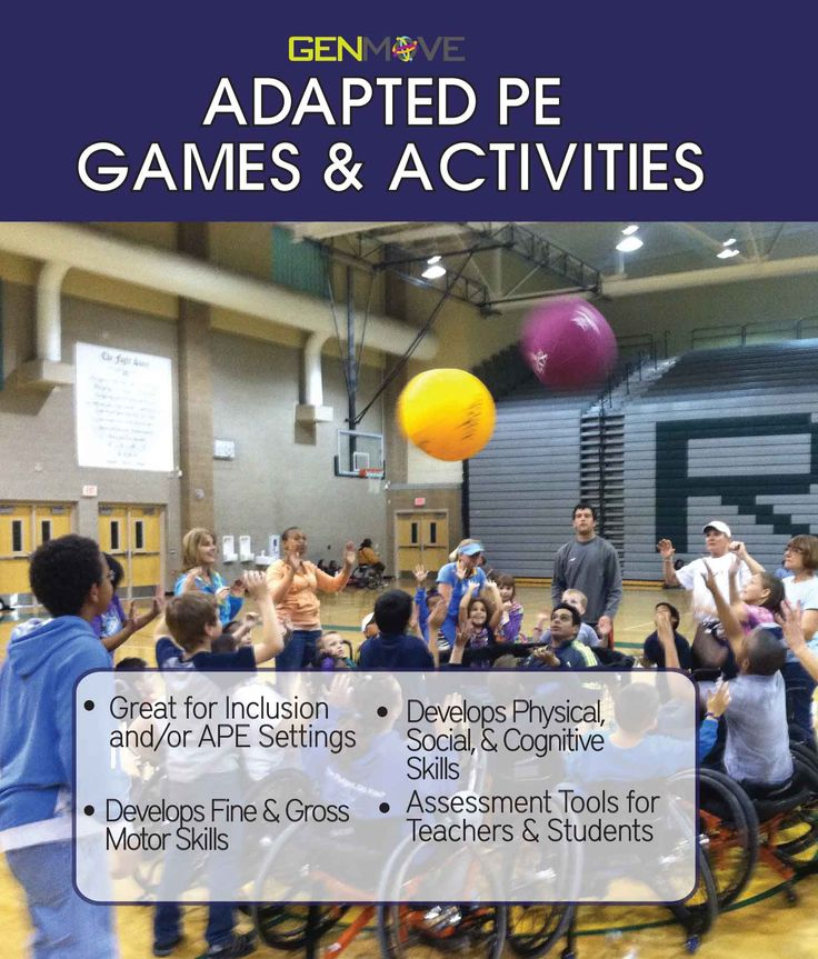Standards Based Adapted PE Games & Activities. #APENS Increasing Opportunity for EVERYONE to participate and have success in physical activity/Education. #inclusion www.apens.com or www.genmoveusa.com
