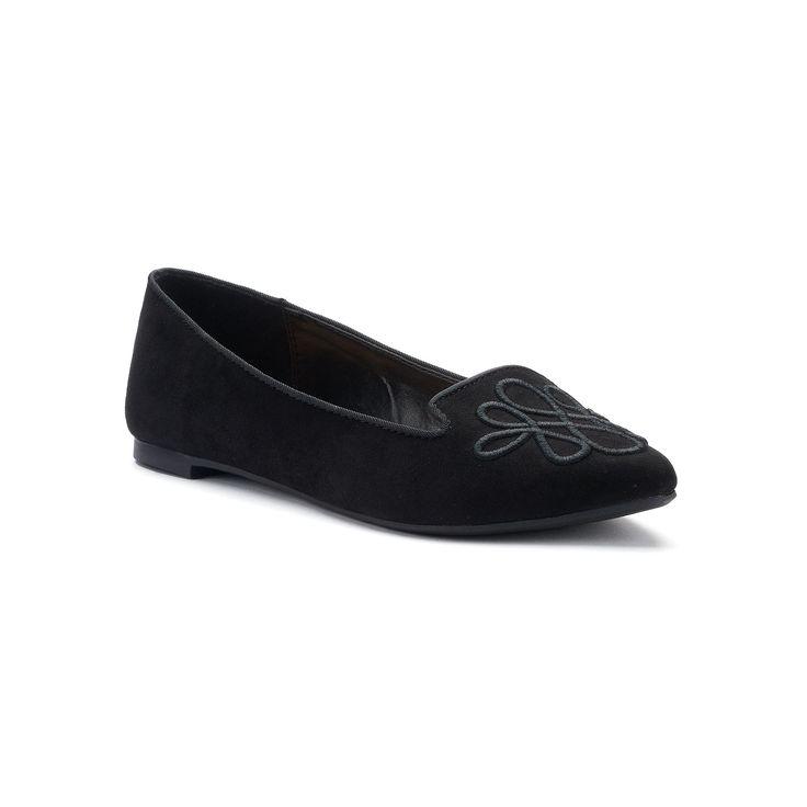 LC Lauren Conrad Calla Women's Pointed Loafers, Black