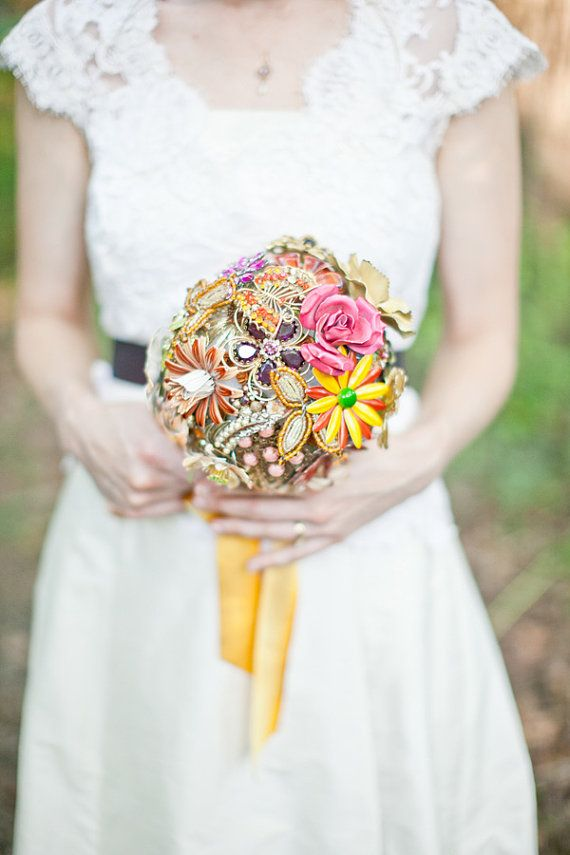 Brooch Bouquet  Colorful Custom Modern Jewelry by TheRitzyRose, $750.00