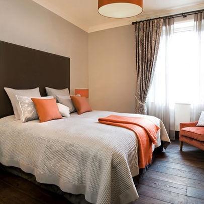 Burnt Orange Master Bedroom Design Ideas, Pictures
