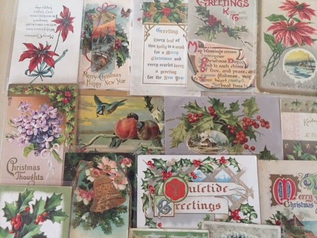 Nice Lot of 25 Vintage 1910 Christmas Holiday Postcards Antique-m45 #Christmas