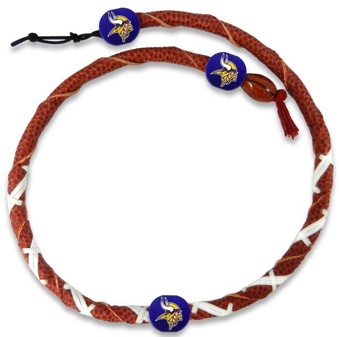 Minnesota Vikings Classic NFL Spiral Football Necklace Z157-4421406689