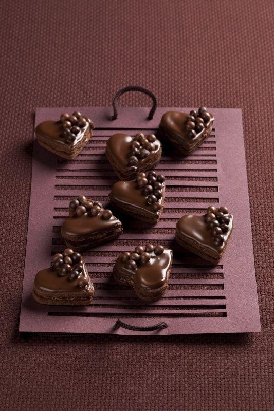 Čokoládové srdiečka s čoko guľôčkami