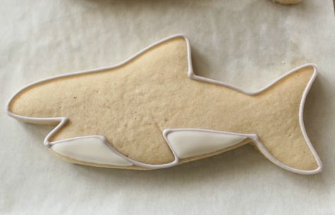 Simple Shark Cookies 6 and how to