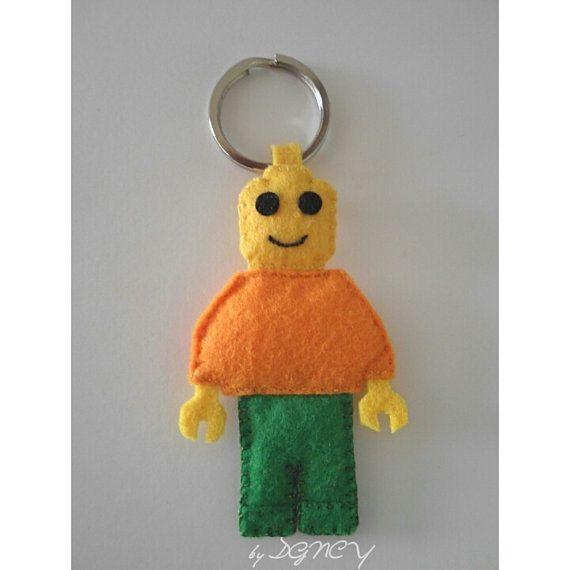 Felt lego minifigure keychain handmade felt keychain by DGNCY