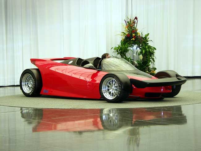 1996 Ford Indigo Concept car, again 3 were built, 2 were sold at auction.  The mock up, with no engine or transaxle, sold for $88125.  The fully functioning model was powered by a V12 engine producing 441 hp, est. Top speed was 170 mph, and 0-60 times were est. 3.3-3.6 seconds.