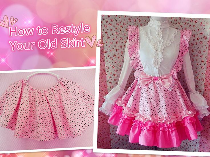 DIY - How To Restyle Your Old Skirt - Kawaii Lolita Jumper Skirt - Designs By Yumi