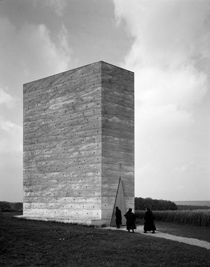 Peter Zumthor, Bruder Klaus Field Chapel, Wachendorf, Germany (2007)  Photograph by Hélène Binet