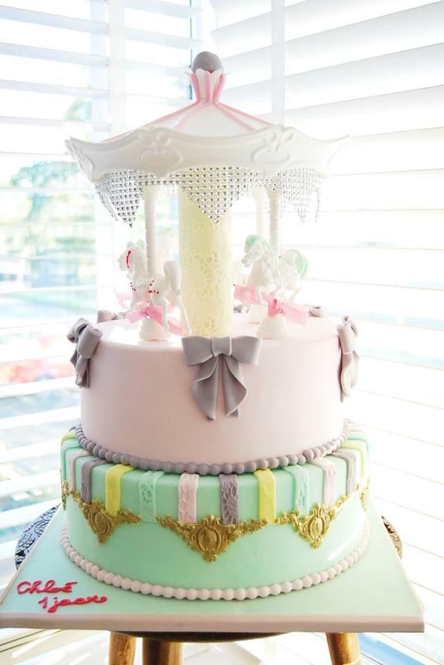 Carrousel taart voor een meisje #taartentwist taarten Den Haag