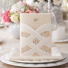 New white red elegant laser cut wedding invitations card supplies free shipping 10pcs/lot(China (Mainland))
