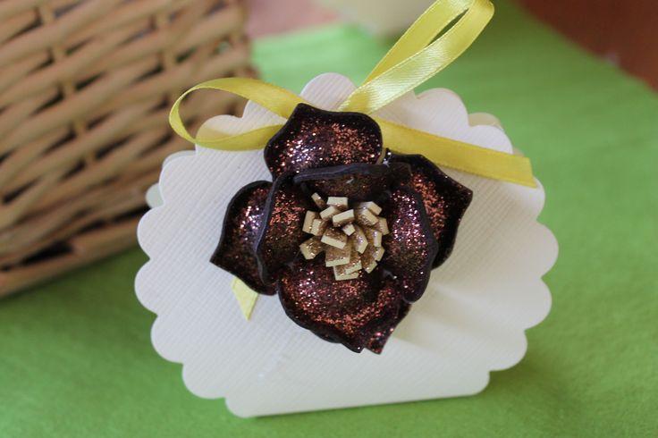 Bomboniera scatolina fommy fiore bronzo, #Cabif #Kreare