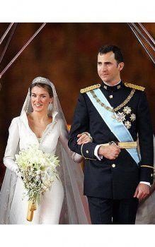 robes de mariée en Espagne la princesse Letizia d'