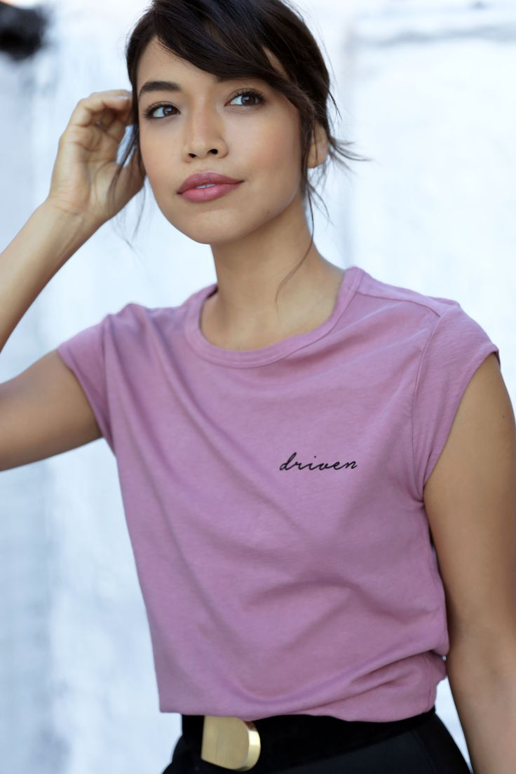 Gearing up for an exciting week, in our DRIVEN TEE (ODL ROSE) #WhatDrivesYou