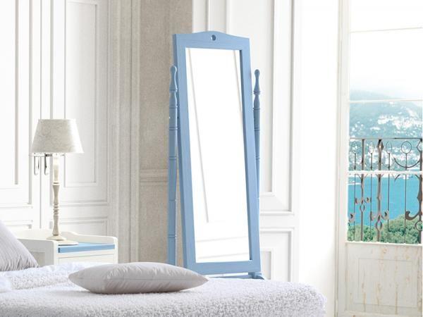 Grupo Seys Verona Solid Wood Dressing Mirror in Azul Cielo.  #modernfurniture #interiordesign #home #modernhome #furniture #interiors #woodfurniture