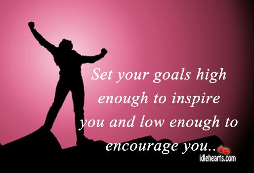 #New Years #Resolutions #Quote  _ Set Your Goals High Enough To Inspire & Low enough to encourage you ! _ ….