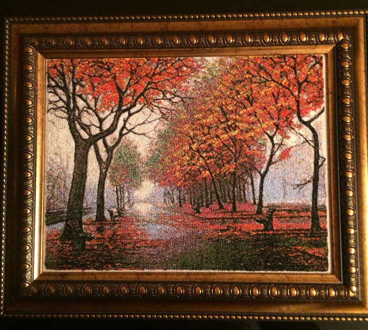 Осень вышивка