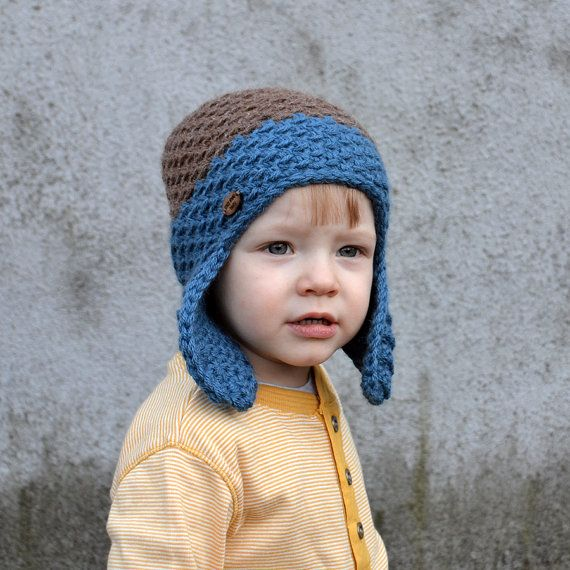 Earflap Baby Boy Toddler Alpaca Winter Two Color by acrazysheep